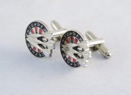 Novelty Cufflinks ~ Dart Board Replica w/Darts ~ Mens Fashion Jewelry #5... - $19.55