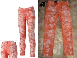 ROCK &REPUBLIC Skinny Jean PEACH CORAL Rockandy Tie Dye Retro Berlin 6 1... - $29.97