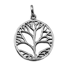 Sterling Silver Tree of Life pendant Infinity Celtic Knot Triquetra Triad New e2 - $9.64