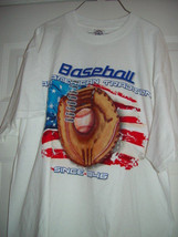 Baseball American Tradition Since 1846 White T-Shirt Size XLarge New - $14.00