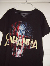 Rihanna Black T-Shirt Size Medium Hard Rock NorthField Park Artist - $27.00