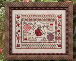 Apple Stitches specialty stitches cross stitch chart Jeanette Douglas Designs - $15.30