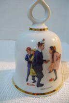 Vintage Danbury Mint Norman Rockwell First Dance Collectible Bell - $18.00