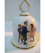 Vintage Danbury Mint Norman Rockwell First Dance Collectible Bell - $12.00