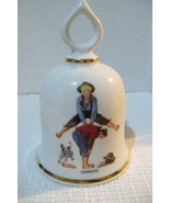 Vintage Danbury Mint Norman Rockwell Leap Frog Collectible Bell - $12.00