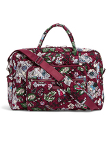 Vera Bradley Signature Cotton Iconic Weekender Bag, Bordeaux Blooms image 3
