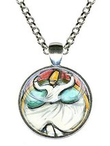 "Rumi Sufi Whirling Dervish 1"" Circle Silver Pendant - $14.95"