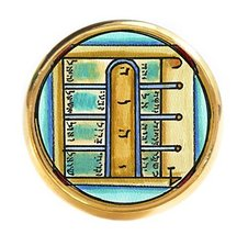Solomons 1st Moon for Opening Ethereal & Physical Doors Gold Adjustable ... - $14.95
