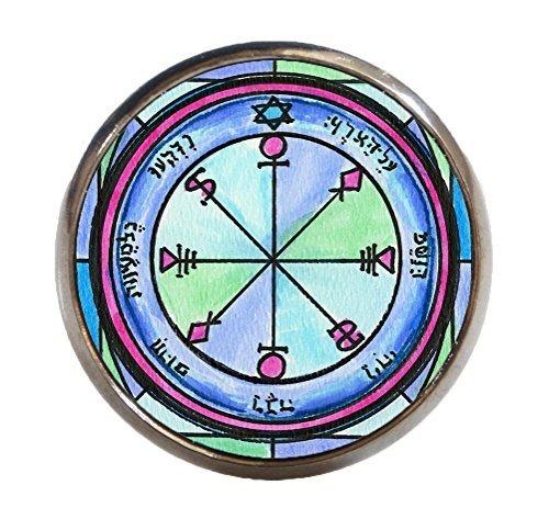 Solomons 6th Moon for Causing Rain Gunmetal Adjustable Ring
