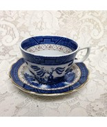 Vintage Booths Real Old Willow  A8025, 2-pc Blue Willow Cup and Saucer - $26.55