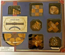 Professor Puzzle Sherlock Holmes'8 Wooden Puzzles Very Rare Set Logic Ga... - $49.99