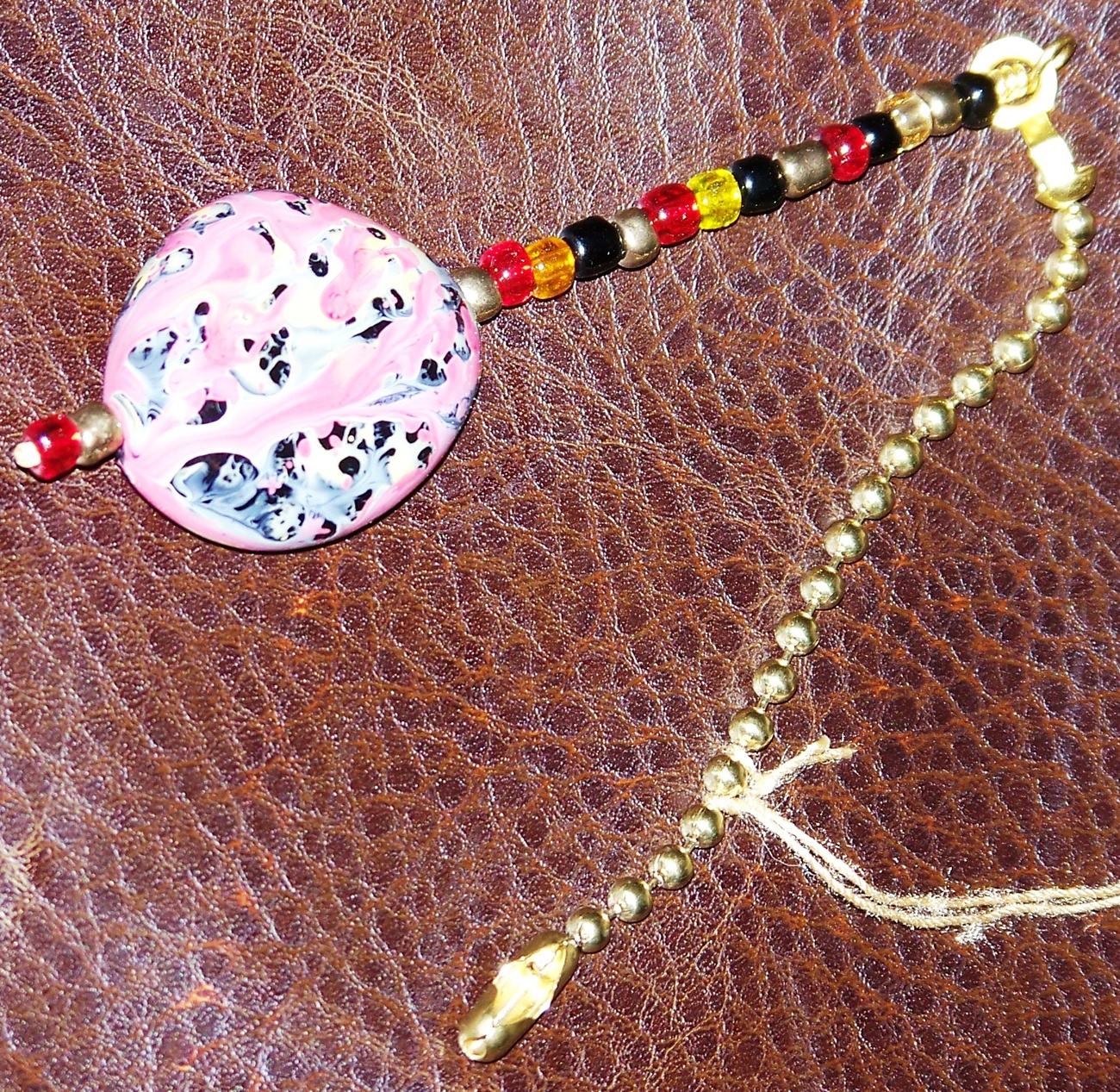 Multi-colored Beaded Fan/Light Pull Chain