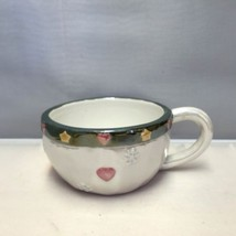 Ganz Short Tea/Coffee Cup Hand Painted Snowflak... - $7.79