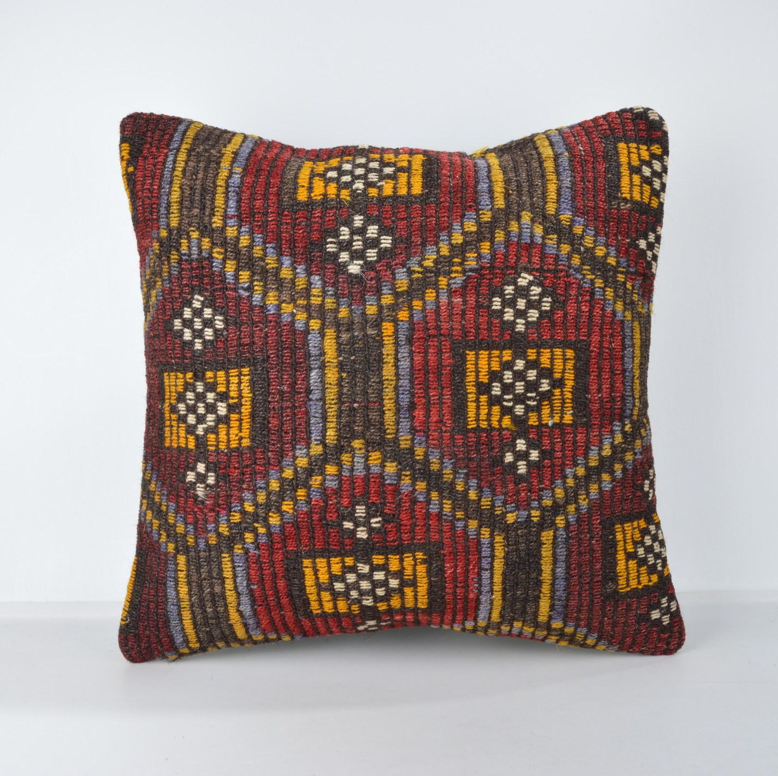handmade cushion antique pillow  decorative throw pillow antique cushion 45X45 - $55.00