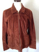 The Territory Ahead Soft Brown Suede Leather Jacket Coat Size M - $51.13