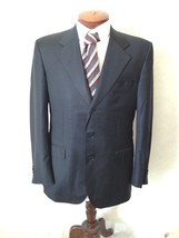 De Candia Loro Piana Fabric Blazer 40R Navy Blue Jacket 100% Wool Three ... - $27.99 CAD
