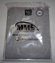 MMS Collection Heavy Weight Cotton T-Shirt Gray NWT SZ 3XL - $8.50
