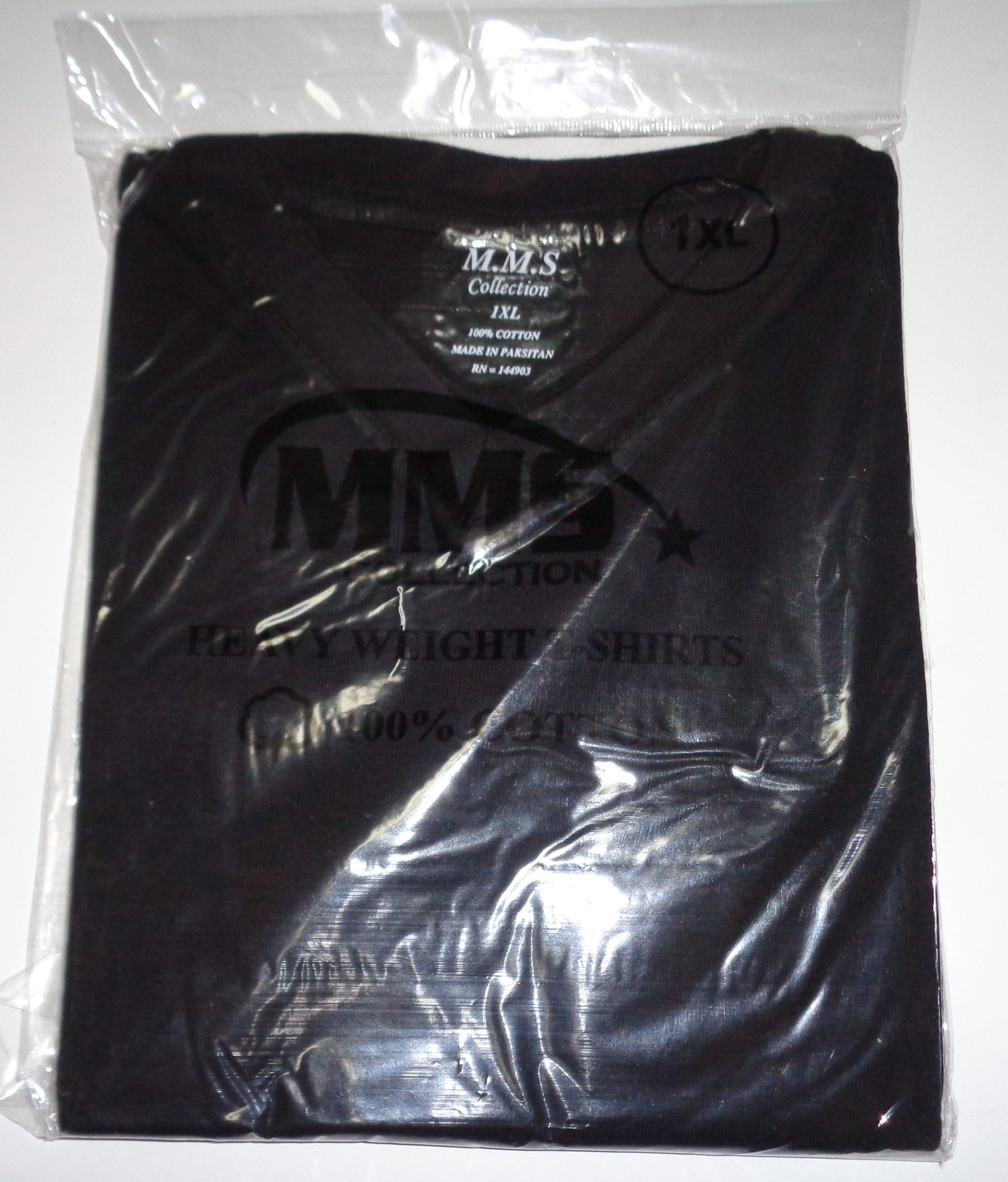 MMS Collection Heavy Weight Cotton T-Shirt Black NWT SZ XL