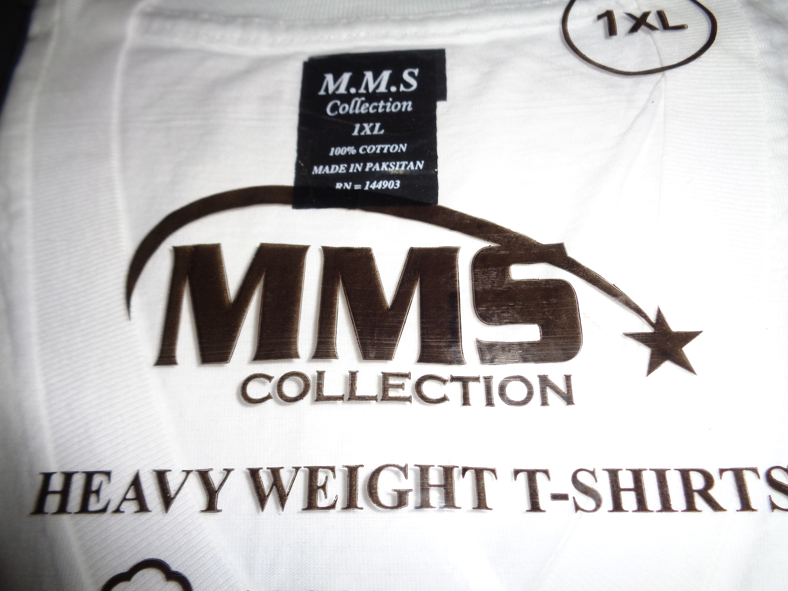MMS Collection Heavy Weight Cotton T-Shirt White NWT SZ XL