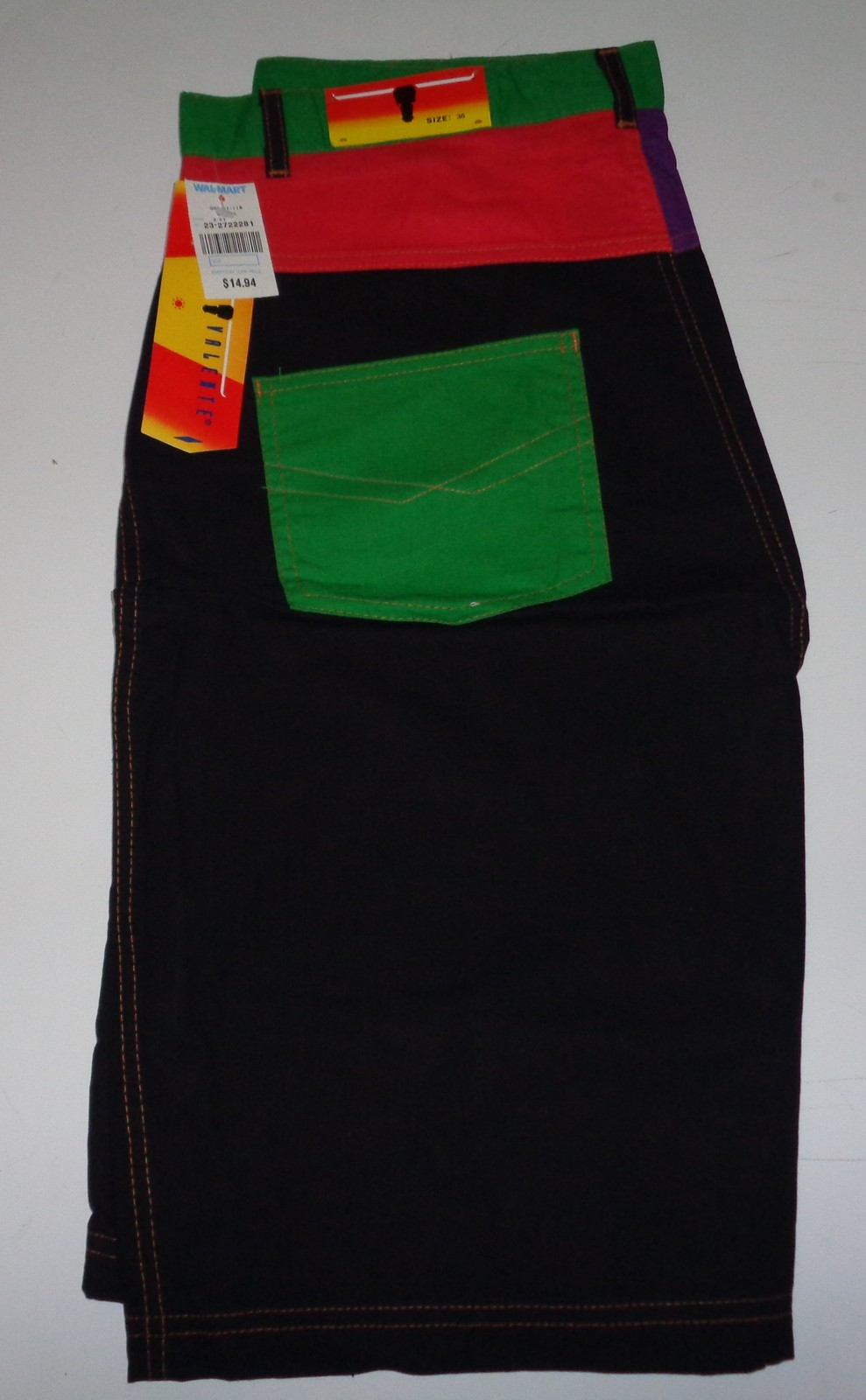 Sergio Valente Adult Casual Board Surf Shorts NWT Size 36 Black Green Red