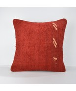 red wool kilim pillow rug wool pillow cover red pillowm red cushion 18x1... - $55.00