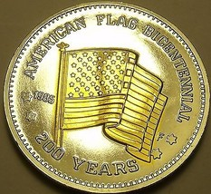 Historic Mint Double Eagle American Flag Bicentennial~Silver & Gold Plat... - $8.81