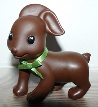 """Infantino Chocolate Brown Rubber Puppy 4 1/2"""" x 4"""" - $12.70"""