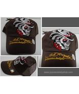 Ed Hardy Brown Cowboy Skull Arrow Vintage Tattoo Cap Hat NWT - $10.99