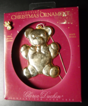 Gloria Duchin Christmas Ornament 1994 Teddy Bear Bowtied Angel Pin Origi... - $7.99