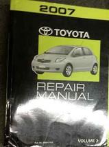 2007 Toyota Yaris Service Shop Reparatur Werkstatt Manuell Volume 3 nur Neu - $237.54