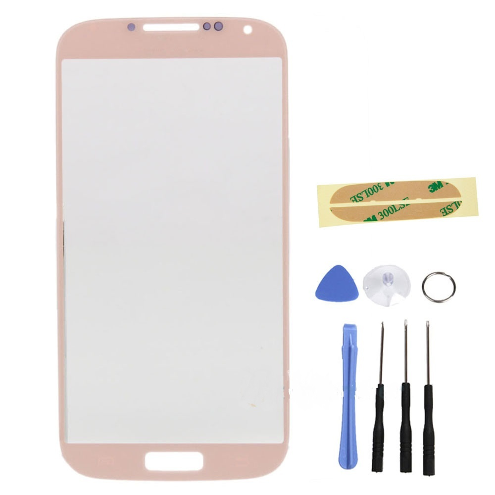Pink Glass Screen replacement part tool for T-MOBILE Samsung Galaxy s4 SGH-M919 for sale  USA