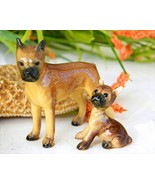 Vintage Hagen Renaker Dogs Boxer Mama 283 Puppy Taped Ears 284 - $29.95