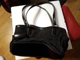 "Womens Merona Purse Black Handbag 12x8"" Non Leather Material - $19.99"