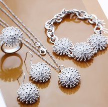 925 silver jewelry fashion FIREWORKS Ring Earrings Necklace Jewelry Sets  - $21.99