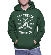 Slytherin quidditch captain white ink hoodie forest thumb200