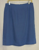 Royal Blue Linen Straight Skirt Lg. - $10.00