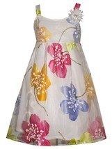 Tween Big Girls Sequin Bodice to Bold Burnout Floral Babydoll Dress