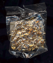 One Dozen Pair 6mm Gold Cup Earring Post - $5.00