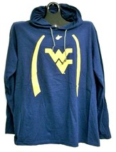 West Virginia Mountaineers Long Sleeve Shirt with Hood Large - $13.29
