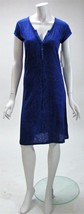 Calvin Klein Blue and Black Animal Print Shirt Shif Dress NWT Sz S,M  MS... - $27.31