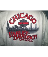 Harley-Davidson White Long Sleeve T-Shirt 2X Chicago, Il - $25.00