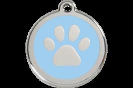 LARGE Light Blue Paw Print Pet Tag Identify Dog... - $16.49