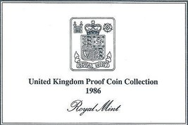 1986 Great Britain 8 Coin 2 Page C.O.A. Document Set~Free Shipping - $3.85