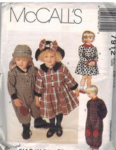 7912 Vintage McCalls Sewing Pattern Toddler Girls Jumpsuit Dress Hat Fla... - $6.92