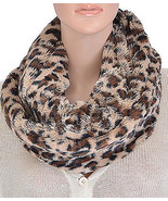 White Animal Print warm winter  infinity Scarf also available in red or ... - $18.66