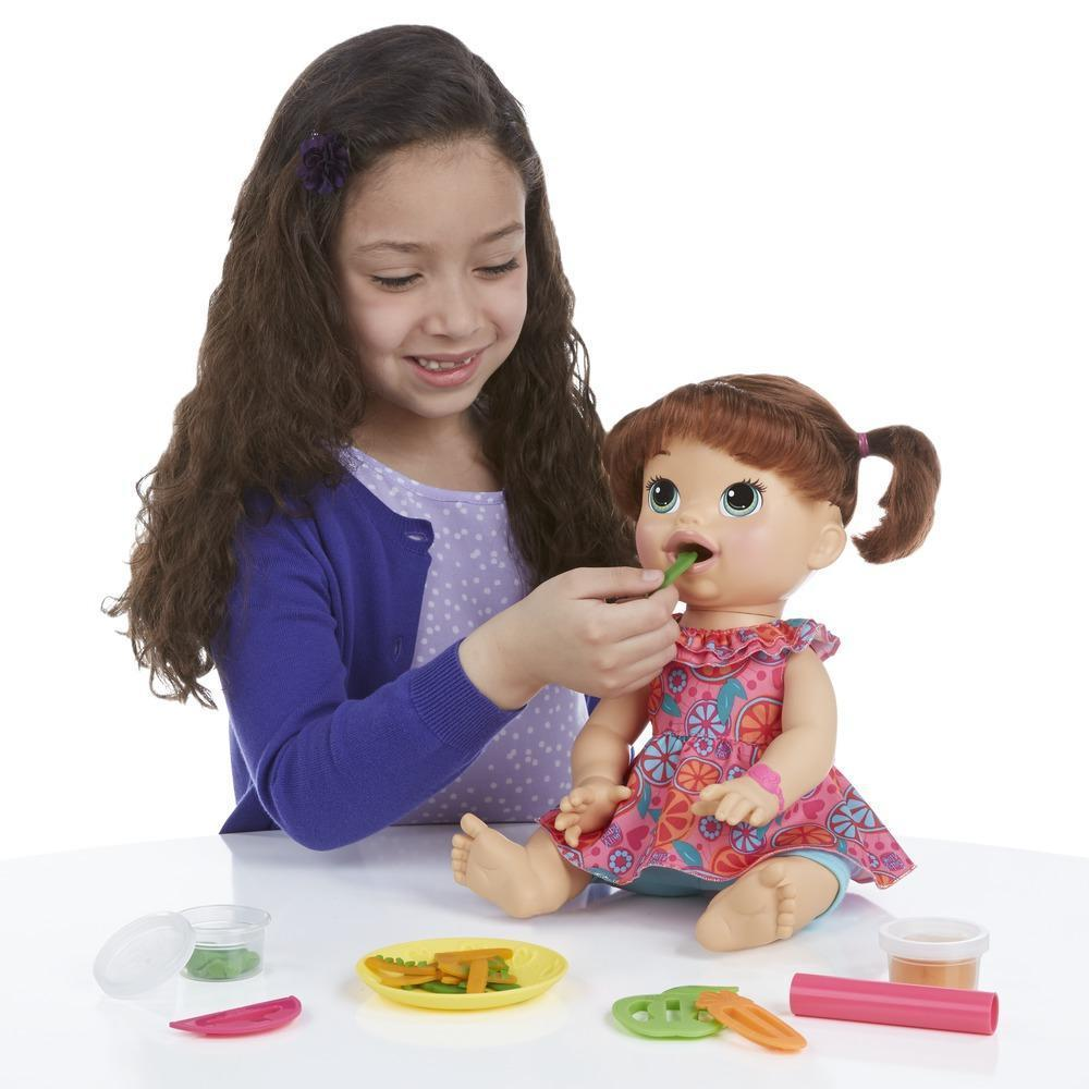 Baby Alive Interactive Spanish And English Speaking Baby Doll Snacks Snacking