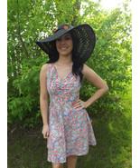 Summer Floral Print Dress Retro Sun Casual Slee... - $28.00