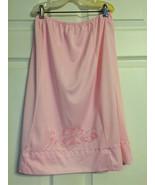 Pink Half Slip Vintage Carol Brent Embroidered ... - $9.99