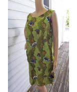 60s Resort Dress Hookano Hawaiian Green Print H... - $39.99