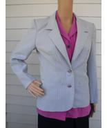 Striped Jacket Blazer Vintage 70s Sears Blue Ca... - $9.99
